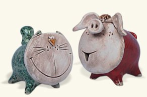New money boxes made of ceramics