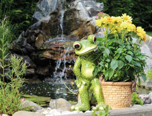 Frog «Sammy» with plant pot