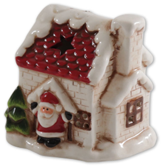 LED house with Santa Claus