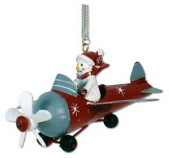 Spring figure snowman in plane