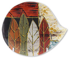 "Glass plate ""Blaetter"" (leaves) round"